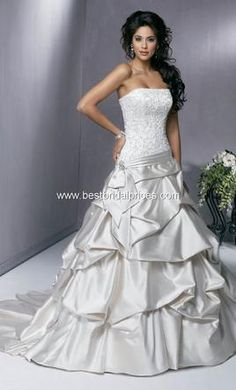 Maggie Sottero McCall: buy this dress for a fraction of the salon price on PreOwnedWeddingDresses.com