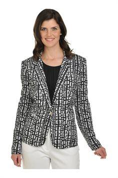 Tan Jay:  Print Rayon Long Sleeve Jacket