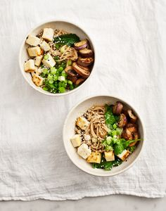 ginger miso eggplant noodles with tofu : vegetarian, vegan, asian Best Eggplant Recipe, Eggplant Recipes, Going Vegetarian, Vegetarian Recipes, Healthy Recipes, Vegetarian Dinners, Healthy Dinners, Weeknight Meals, Diet Recipes