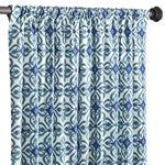 Blue pattern curtain