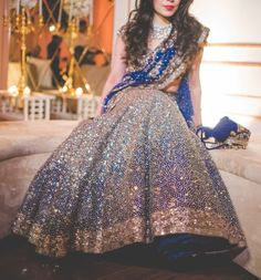 Bridal Lehenga Designs For Reception In India 2017 Indian Bridal Lehenga, Indian Bridal Wear, Indian Wedding Outfits, Pakistani Bridal, Bridal Outfits, Pakistani Dresses, Indian Dresses, Indian Outfits, Bridal Dresses