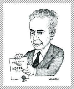 Giulio Natta, 1903-1979, ingegnere chimico. Direttore dell'Istituto di chimica industriale al Politecnico di Milano. Grazie alle ricerche sulla sintesi stereospecifica del polipropilene, nel 1963 vinse il premio Nobel per la chimica insieme con Karl Ziegler. #AlbumMilano