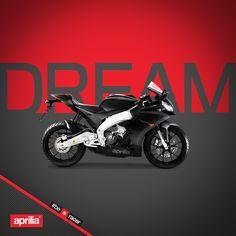 Your biggest dream is that small. www.aprilia.com #aprilia #bearacer