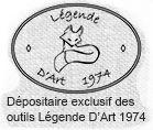 """Pince à Passant """" Légende d'Art 1974 """"  Idéal pour venir coudre un petit passant. s'utilise avec votre pince traditionnelle.  Matériel professionnel fabriqué en France en bois massif."""