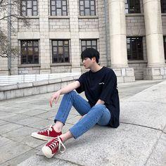 Korean Street Fashion - Life Is Fun Silo Korean Fashion Ulzzang, Korean Boys Ulzzang, Cute Korean Boys, Korean Fashion Summer, Korean Fashion Men, Korean Street Fashion, Ulzzang Boy, Korea Fashion, Korean Outfits