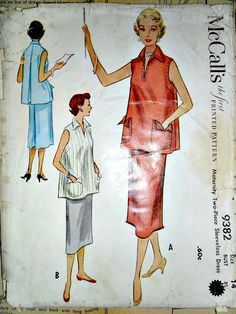 Vintage 1950's Maternity Sewing Pattern by stitchingbynumbers, $8.00