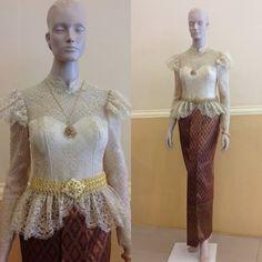 ชุดแต่งงานไทย #ชุดไทย แขนยาว ลูกไม้ #wedding #thaiwedding