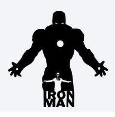 Iron Man Vinyl Decal Avengers Marvel Comics Tony Stark (7.00 USD) by ShadeTreeAcre