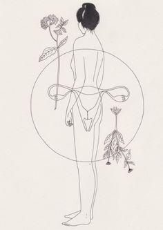 Harriet Lee-Merrion aka Harriet Lee Merrion (British, b. 1991, Sheffield, UK, based Bristol) - Womb Drawings