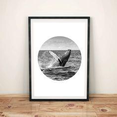 Whale Art Whale Print Printable Art Whale por WildMoonriseDesigns