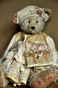 Christelle « Border Company Stuffed Animals, Teddy Bear Pictures, Honey Bear, Vintage Teddy Bears, Bear Doll, Cute Bears, Soft Sculpture, Tartan, Baby Dolls