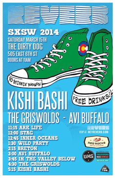 SXSW 2014: Kishi Bashi, Avi Buffalo and more headline the Reverb Party | Saturday, March 15, 2014 | 11am-6pm | The Dirty Dog at 505 E. 6th St., Austin, TX 78701 | Live music from 9 bands & free drinks; no badge required | RSVP at: http://www.heyreverb.com/blog/2014/01/30/sxsw-2014-reverb-party-lineup-kishi-bashi-avi-buffalo-valley/85148/