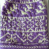 Ravelry: Red Square Hat pattern by Lisa McFetridge. I did this hat as a test knit for the designer.  It turned out great, great instructions easy to follow.