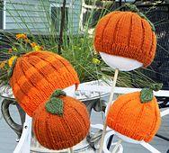 """Ravelry: """"Lil"""" Pumpkin Hat pattern by Lori Utley"""