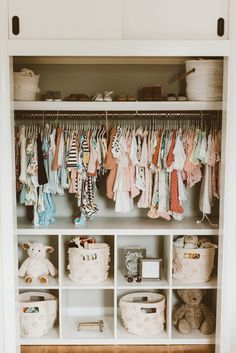 Best Nursery Closet Organization Ideas For The Perfectly Organized Baby Ro. - Best Nursery Closet Organization Ideas For The Perfectly Organized Baby Room - Baby Room Boy, Baby Nursery Diy, Baby Bedroom, Baby Room Decor, Baby Boy Nurseries, Baby Girl Closet, Nursery Room, Girl Nursery, Baby Room Ideas For Girls