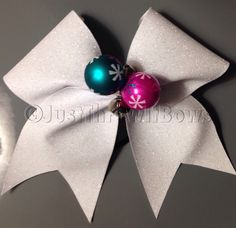 Jingle Bells Holiday Bow / Christmas Cheer Bow / Holiday Cheer Bow / Cheerleading gift / Big handmade Cheer Bow! by ThrowITBows on Etsy https://www.etsy.com/listing/210702198/jingle-bells-holiday-bow-christmas-cheer