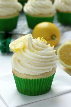 Light and Lovely Lemon Cupcakes - soft, fluffy lemon cupcakes are topped with a luscious sunshiny sweet lemon buttercream and are so easy/affordable to make at home… sure to be a new favorite!