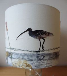 Jo Hill creates luxury interior textiles and gifts including lampshades, wall art and homewares, all inspired by British wildlife Free Motion Embroidery, Embroidery Applique, Machine Embroidery, Handmade Lampshades, Christmas Embroidery Patterns, Lamp Light, Diy Light, Light Table, Lamp Shades