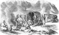 Moldo-Valachie, Halte de chasse dans les steppes