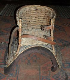 Antique basket saddle for a child