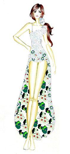 Croqui Ivete #ilustração #dress #fashion #illustration