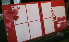 Hearts A Plenty double page scrapbook layout spread. $5.00 Email Zwolaneks@att.net to order.