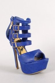 Strappy Zip Up Cut Out Platform Open Toe Heel #urbanog #holidaytrends