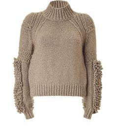 BELSTAFF  Stone Knit Turtleneck Illford Pullover