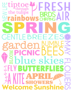 Printable Spring Subway Art to Brighten Up Your Home