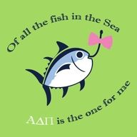 omg - this would be so cute for alpha sigma tau - with an anchor hooking the wittle fisheeee....