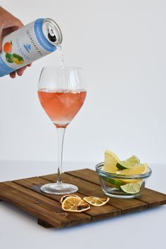 of Georgian Bay Gin Smash™ Chilled Rosé Glass type: Wine Glass Rosè all day. Pour all ingredients in tall wine glass with one ice cube. Blush Wine, Alcoholic Drinks, Cocktails, Georgian, Wine Glass, Cube, Recipes, Inspiration, Cocktail