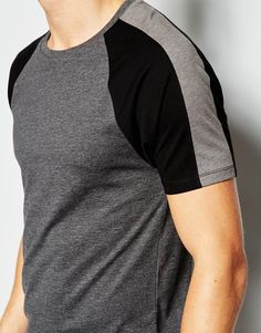 Image 3 of ASOS Muscle Fit T-Shirt With Cut And Sew Raglan Sleeves In Stretch Graphic Shirts, Printed Shirts, Boys Shirts, Tee Shirts, Independent Clothing, Casual Outfits, Men Casual, Mens Activewear, Sport Wear
