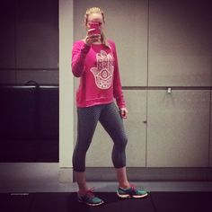 A workout in my studio wearing Spiritual Gangster and Nike
