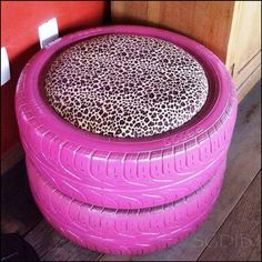 Recycled tire chair!