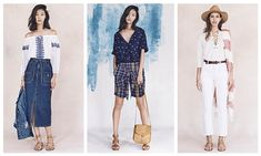 With her first collection for the spring-summer 2016 season, Madewell's new head designer Joyce Lee drew inspiration from various vacation destinations for a jet-setting yet grounded outing. Honing in on denim, the fabric was used on everything from mid-length skirts to tailored overalls and button-up jackets. Elsewhere, gingham prints as well as stripes were standout …