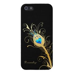 An Elegant Black and Gold Peacock Feather iPhone 5 Case http://www.zazzle.com/elegant_black_and_gold_peacock_feather_iphone_case-256316993575190164?rf=238835258815790439