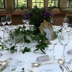Table arrangements Waterford Castle, Table Arrangements, Table Settings, Table Decorations, Furniture, Home Decor, Desk Arrangements, Decoration Home, Room Decor