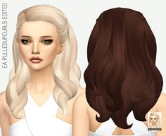 MISSPARAPLY | [TS4] EA PULLEDUPCURLS EDITED: SOLIDS 64 colors...