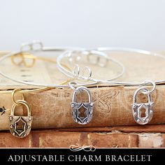 Adjustable Charm Bracelet with Lock Charm. – Annie Howes