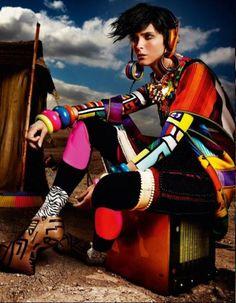 vogue uk may 2012, fashion editorial, tribal