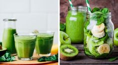 Batido Verde Detox para cenar Ginger Juice Benefits, Healthy Life, Healthy Eating, Workout Bauch, Loose Weight, Eating Plans, Sin Gluten, Health Remedies, Smoothies
