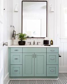 turquoise cabinet wi