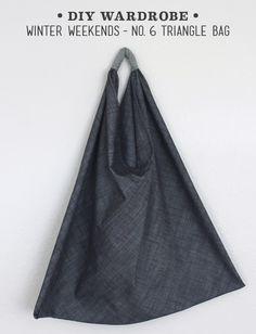 Winter Wardrobe No. 6 – Triangle Bag with Tutorial