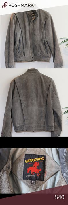 Vintage Suede Jacket This jacket is in very good condition. It is a heavy coat making it perfect for cold weather. Geronimo Jackets & Coats
