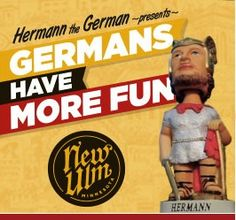 """New Ulm, Minnesota - A Midwestern town that likes to promote its German heritage with German events like Oktoberfest and Christkindlmarkt and the famous """"Hermann the German"""" statue that is a copy of a monument in Germany."""