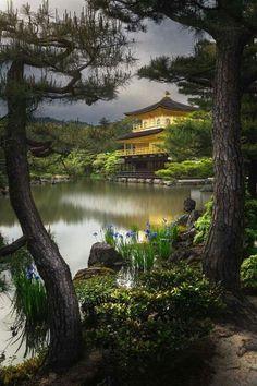 Golden pavillion of Kinkakuji, Kyoto, Japon.