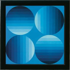Victor Vasarely: Painting 'Hold-K', framed                                                                                                                                                      More