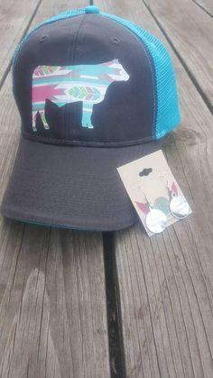 Items similar to Feather Print Stock Show Ball Cap 5c713cdf090