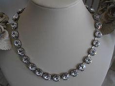 Anna wintour style swarovski crystal necklace