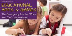 When crisis hits, and you can't homeschool, you can use these educational apps and games to fill in the gaps. From math to history, you're covered. Educational Games For Kids, Educational Videos, Reading Lessons, Math Lessons, School Computers, Learn To Read, Elementary Schools, Teaching Resources, Raising